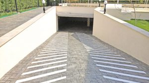 Double Compenant Painting of Parking Entrance